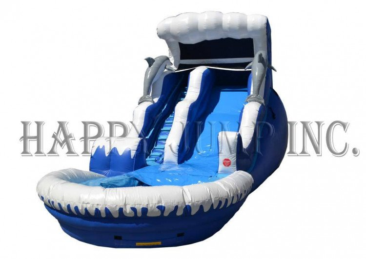 18ft Double Drop wave slide and pool
